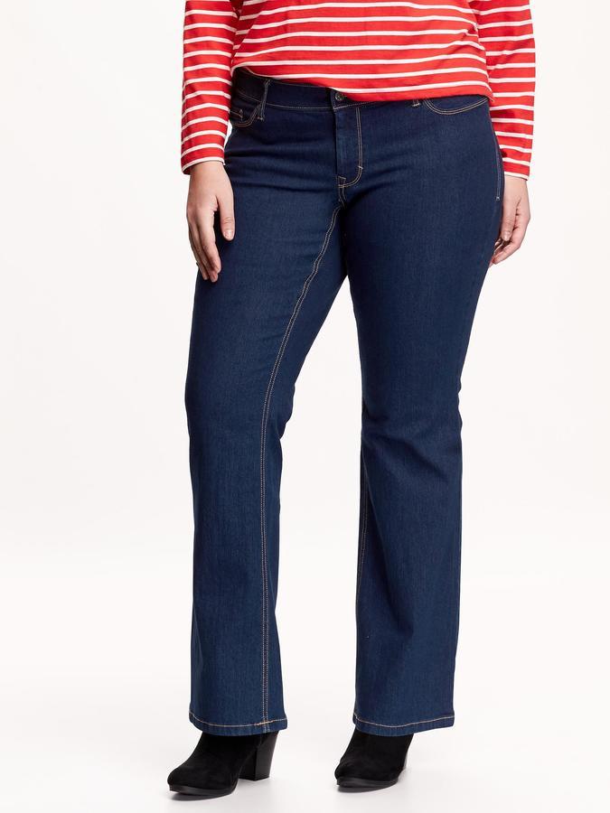 Old Navy Women's Plus Dark-Wash Boot-Cut Jeans
