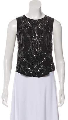Haute Hippie Sleeveless Embellished Top w/ Tags