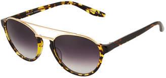 Barton Perreira Boleyn Half-Rim Acetate & Titanium Sunglasses