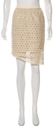 RED Valentino Embroidered Knee-Length Skirt
