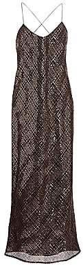 Mason by Michelle Mason Women's Sequined Slip Dress