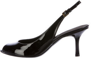 Tom Ford Tom Ford Patent Leather Peep-Toe Pumps w/ Tags