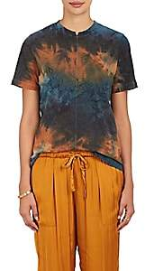 Raquel Allegra Women's Tie-Dyed Cotton-Blend T-Shirt - Amber