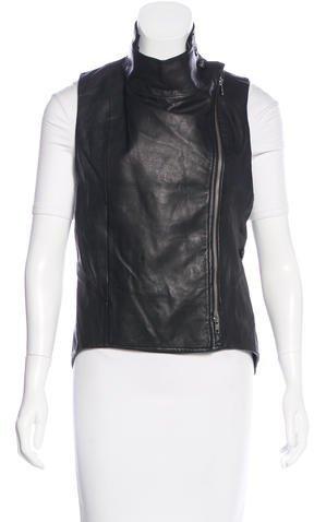 Ann DemeulemeesterAnn Demeulemeester Leather Moto Vest