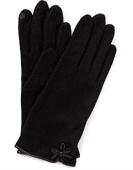 Gregory Ladner Wool Glove W Bow Detail