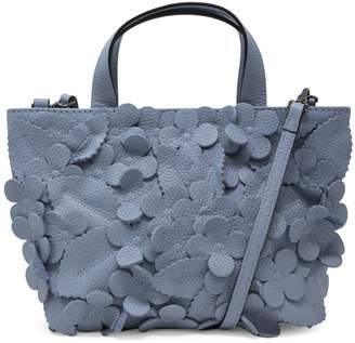 T Tahari Mini Greta Floral Leather Crossbody Bag