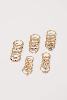 H&M 25-pack Rings - Gold