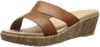 Crocs Women's 16205 A-Leigh Leather Wedge Sandal
