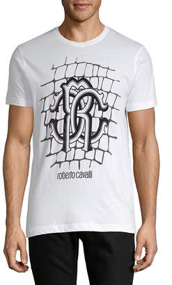 Roberto Cavalli Graphic Brick T-Shirt