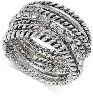 INC International Concepts I.n.c. Textured Pave Statement Ring, Created for Macy's