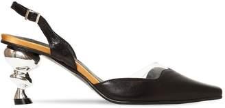 YUUL YIE 70mm Lissom Leather & Plexi Pumps