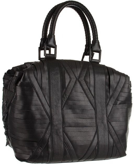 L.A.M.B. - Stripped Bowler (Black) - Bags and Luggage