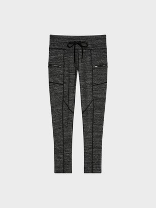 Donna Karan Donnakaran Mid-Rise Logo Legging With Zipper Pockets