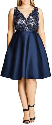 City Chic Alessandra Fit-and-Flare Dress $199 thestylecure.com
