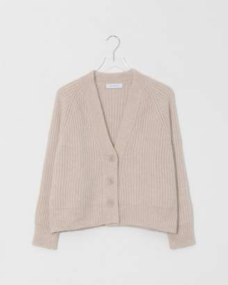 Roche Ryan Blonde Cropped Oversized Cashmere Cardigan