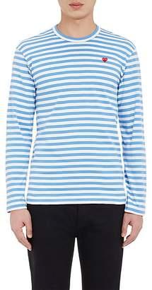 Comme des Garcons Men's Striped Long-Sleeve T-Shirt - Blue