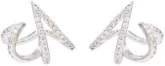 Kenneth Jay Lane Cz By Cubic zirconia abstract cage stud earrings