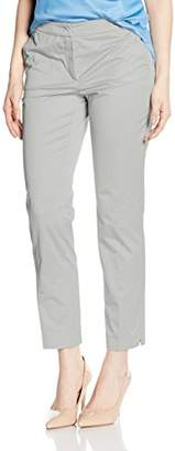 Betty Barclay Women's 5454/1300 Pleat-Front Trousers - Silver