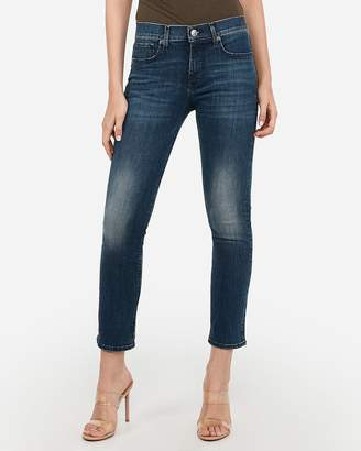 Express High Waisted Denim Perfect Faded Dark Wash Skinny Jeans