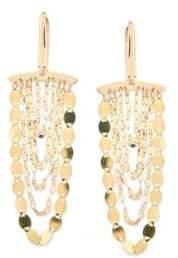 Lana Small Nude 14K Yellow Gold Cascade Earrings