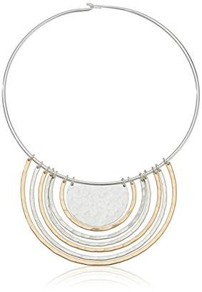 Robert Lee Morris Metal Band Hammered Texture Multi U Wire Collar Necklace