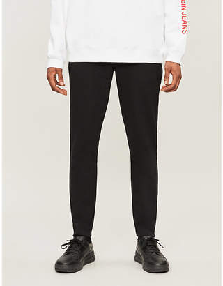 CK Calvin Klein Logo tapered cotton-blend jogging bottoms