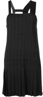 Vera Wang pleated asymmetric dress