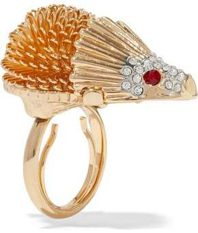 Kenneth Jay Lane Kenneth Jay Lane Woman Embossed Silver-tone And Gold-tone Ring Silver Size f1sWzdCDa