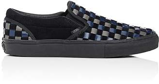 Vans Men's BNY Sole Series: Woven Leather & Suede Slip-On Sneakers