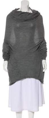 Alexander McQueen Off-The-Shoulder Long Sleeve Top