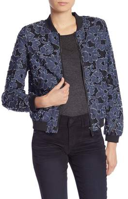 KUT from the Kloth Mirelda Floral Chambray Bomber Jacket