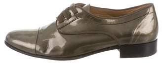 Lanvin Patent Leather Round-Toe Oxfords