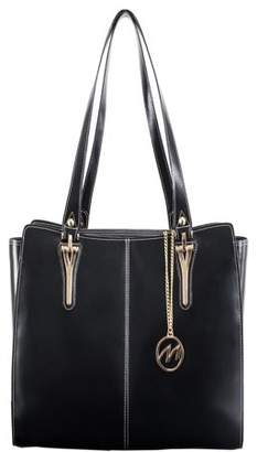 McKlein Usa GLENNA, Ladies' Tote with Tablet Pocket, Top Grain Cowhide Leather, Black (97555)