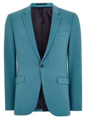 Topman Mens Blue Teal Ultra Skinny Fit Blazer