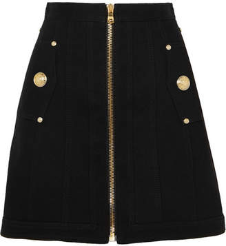 Balmain Denim Mini Skirt - Black