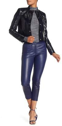 Theory Leather Skinny Cropped Pants