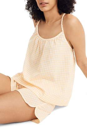 Madewell Saffron Gingham Gathered Pajama Camisole