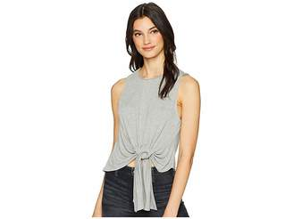ASTR the Label Tie Front Knit Tank Top