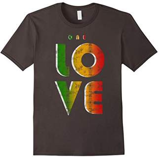 One Love Rasta Reggae Roots Clothing T Shirt Tee Stop War