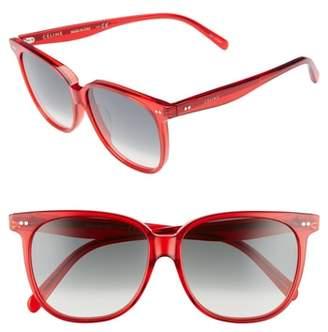 Celine Special Fit 58mm Square Sunglasses