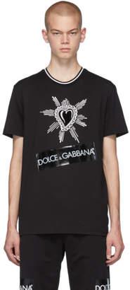 Dolce & Gabbana Black Heart Logo T-Shirt