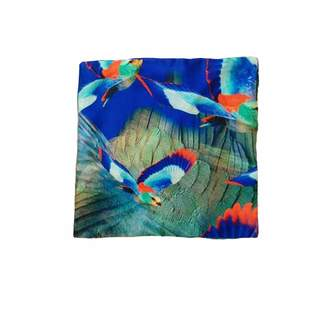 Jennifer Rothwell - Blue Humming Bird Pocket Square