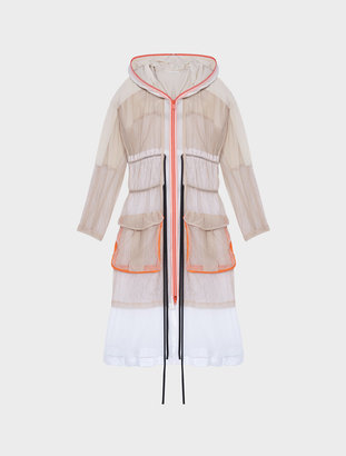 Runway Extra Long Sleeve Hooded Coat With Double Drawstring $898 thestylecure.com