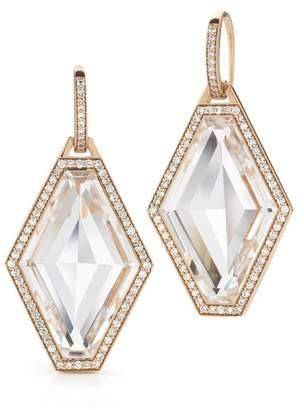Walters Faith Bell 18K Diamond Hexagon With Rock Crystal Earrings