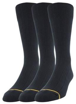 Gold Toe Gt a Goldtoe Brand Men's Big & Tall Rayon Crew Dress Socks 3-Pack