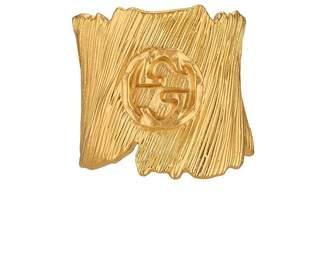 Gucci Textured metal ring with Interlocking G