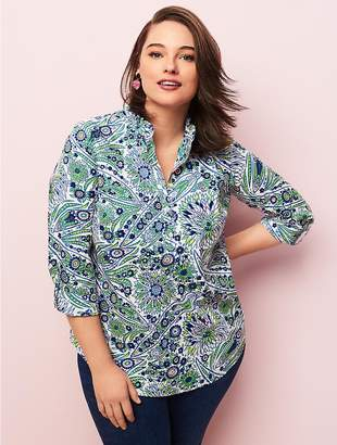 Talbots Womans Exclusive Ruffle Tunic - Blooming Paisley