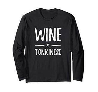 Wine Lover Tonkinese Long Sleeve Shirt Funny Cat Mom Gift