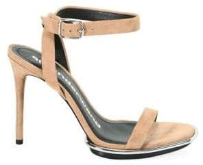 Alexander Wang Cady Clay Stiletto Leather Sandals