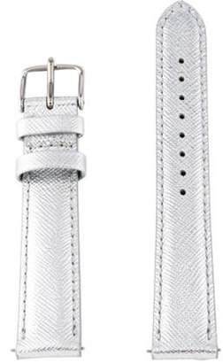 Michele 16mm Leather Watch Strap Metallic 16mm Leather Watch Strap